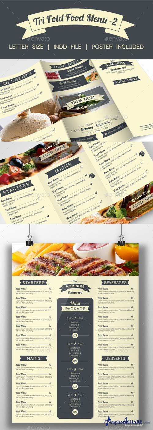 GraphicRiver Tri Fold Food Menu - 2