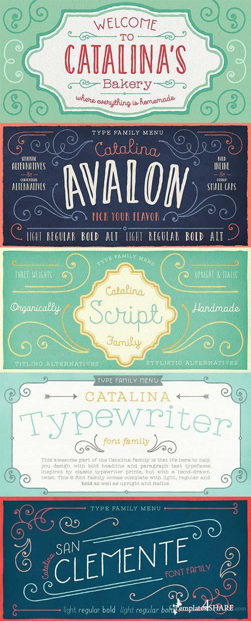 Catalina Italics Font Family