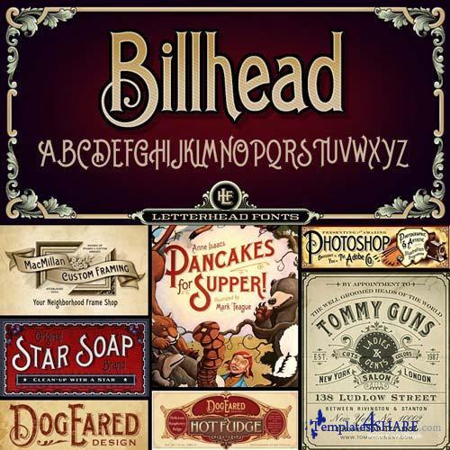 LHF Billhead Font Family