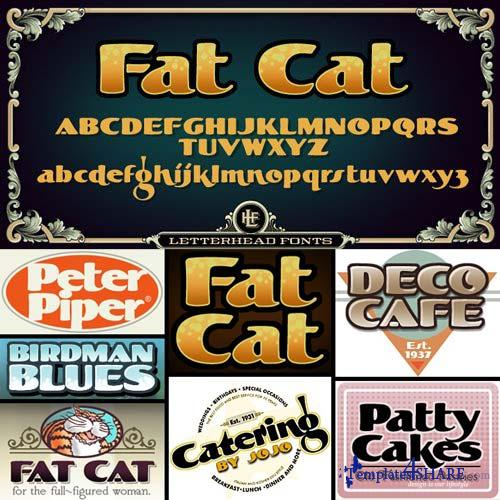 LHF Fat Cat Font Family