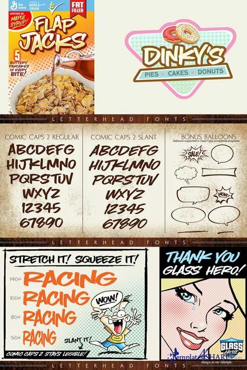 LHF Comic Caps - 2 Font Family