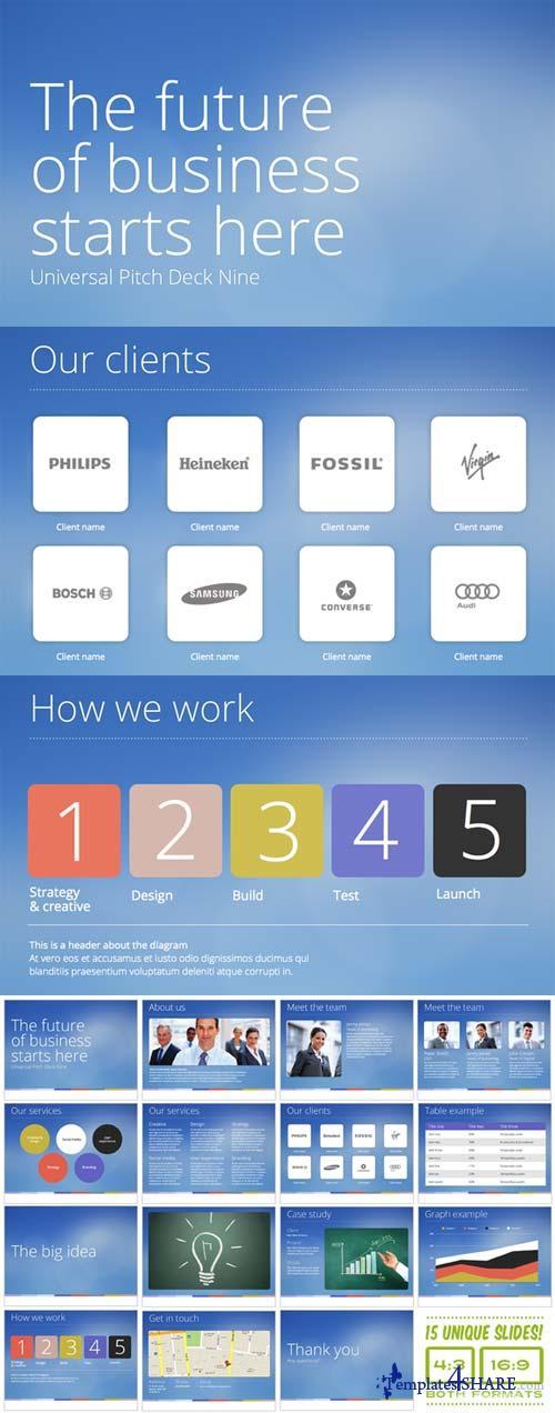 CreativeMarket Universal Pitch Deck Nine PowerPoint