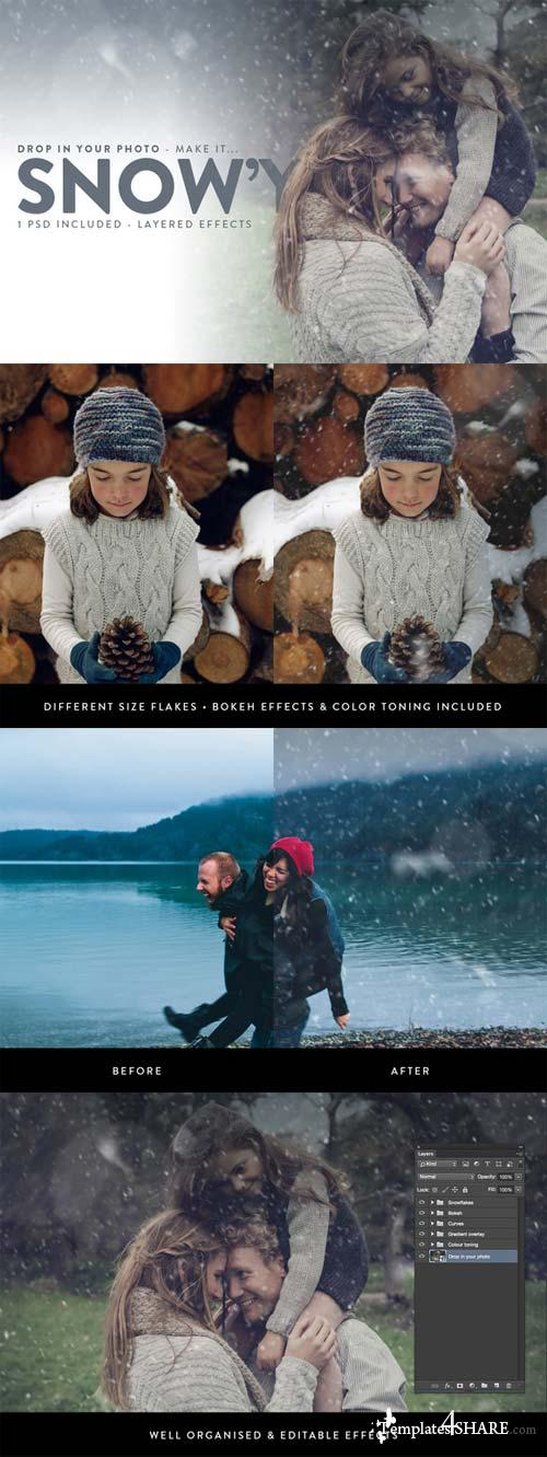CreativeMarket Snowy - Falling Snow Effects