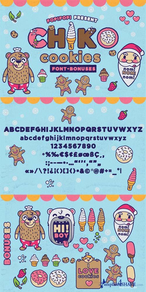 Chiko Cookies Typeface Font + Cute Bonus