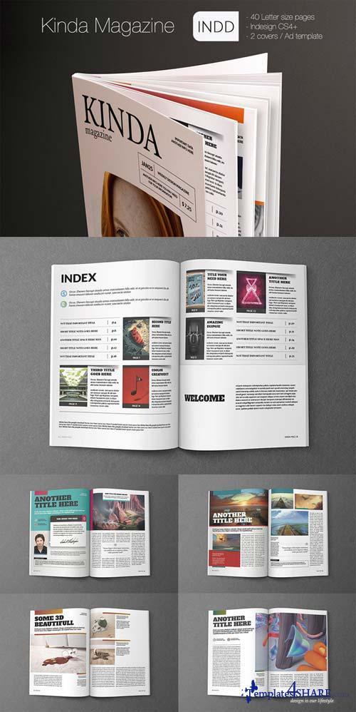 CreativeMarket Kinda Magazine