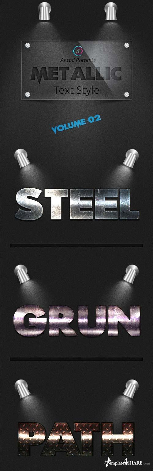 GraphicRiver Metallic Text Styles (Vol-2)