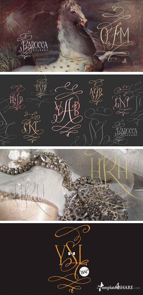 Barocca Monograms Font