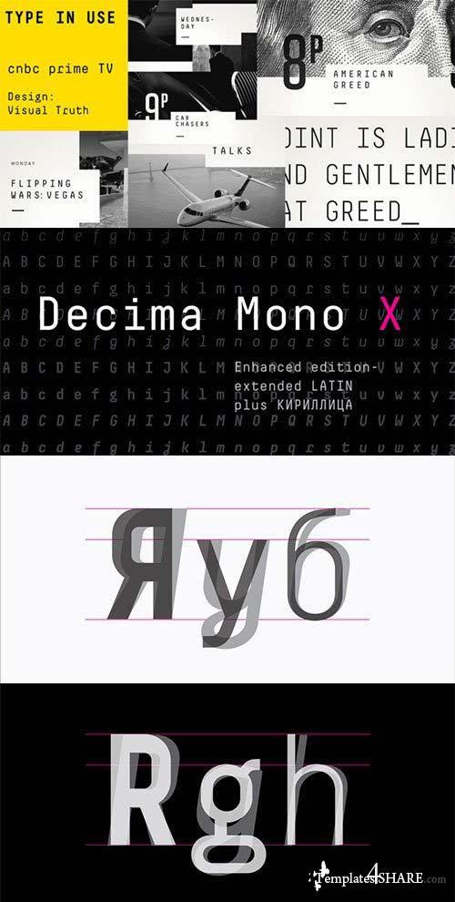 Decima Mono X Font Family