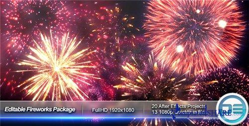 Editable Fireworks Package - After Effects Project (Videohive)