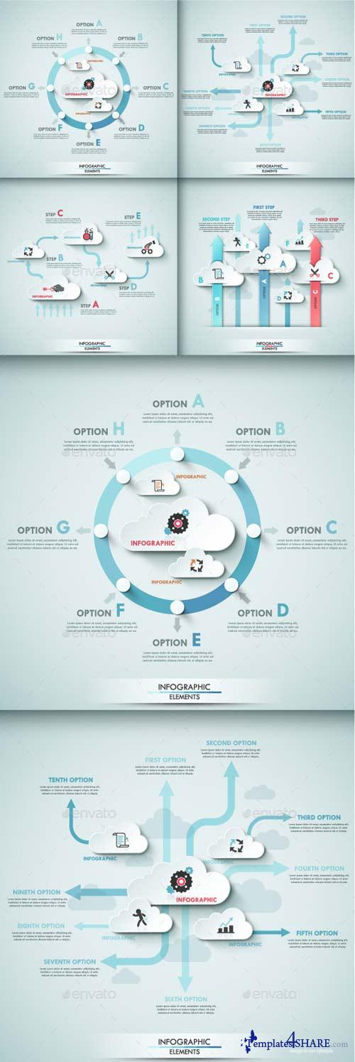 GraphicRiver Set of 4 Infographic Templates With Cloud