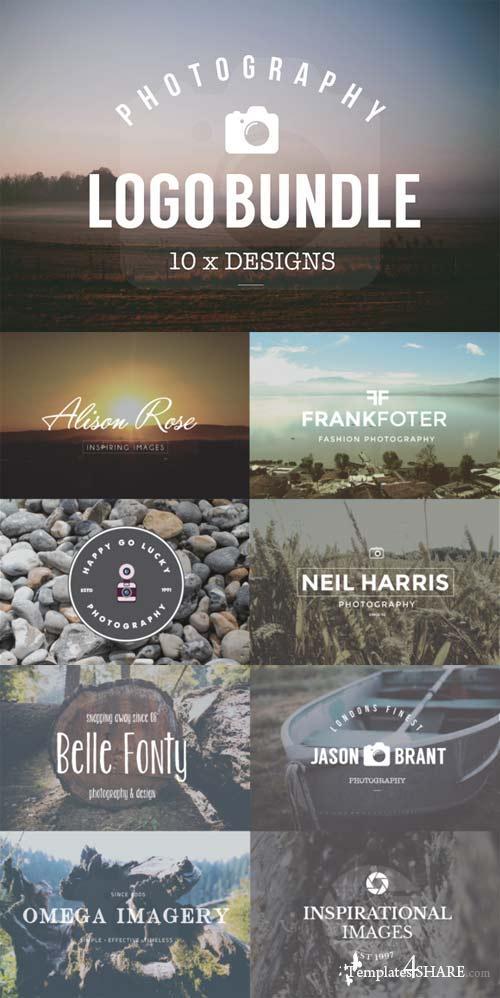 CreativeMarket 10 Logo Photography Templates Bundle