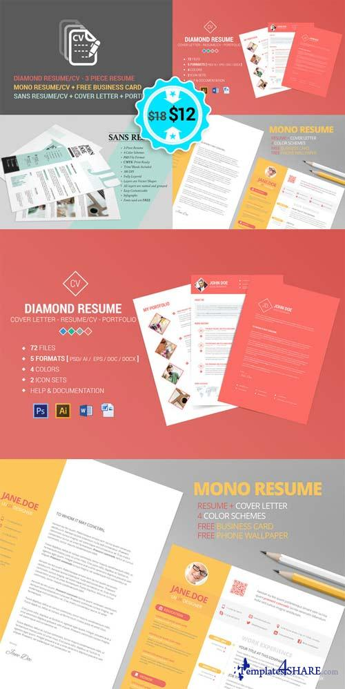 CreativeMarket Resume - CV - No1 Bundle