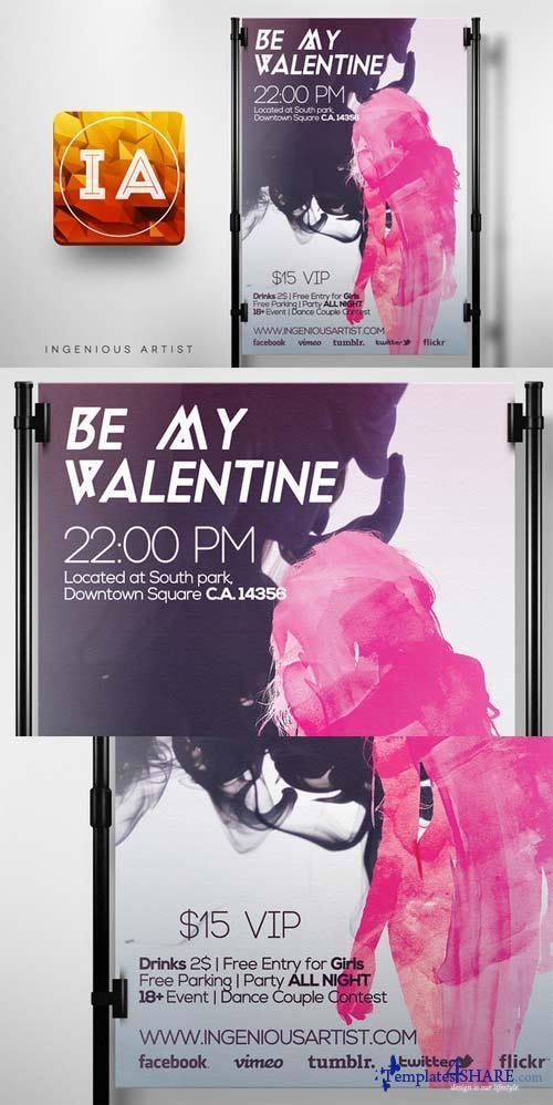 CreativeMarket Be My Valentine Party Flyer