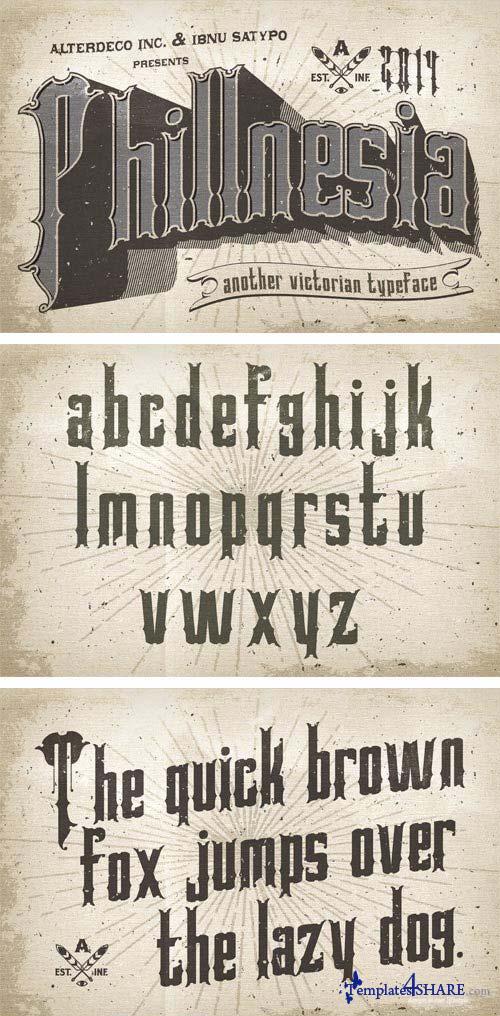 Phillnesia Typeface Font