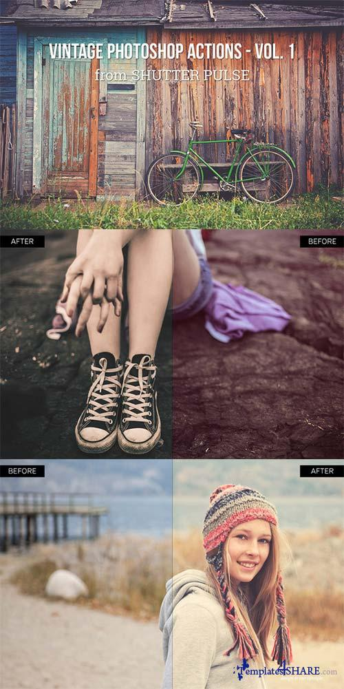 CreativeMarket Vintage Photoshop Actions - Vol. 1