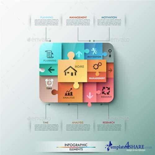 GraphicRiver Modern Infographic Puzzle Template