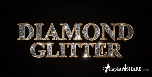 Diamond Glitter Titles - After Effects Project (Videohive)