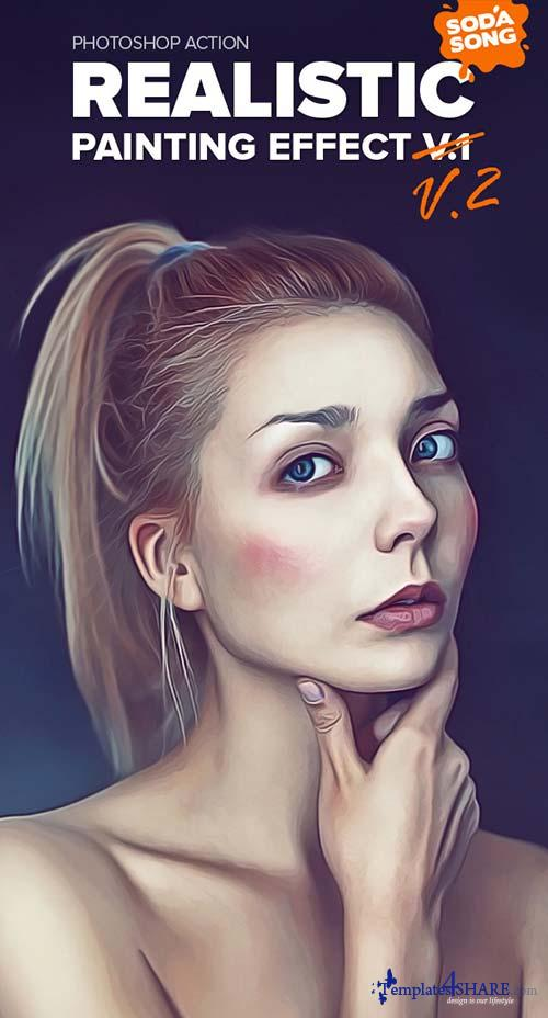 GraphicRiver Realistic Painting Effect V2 - Painting Action