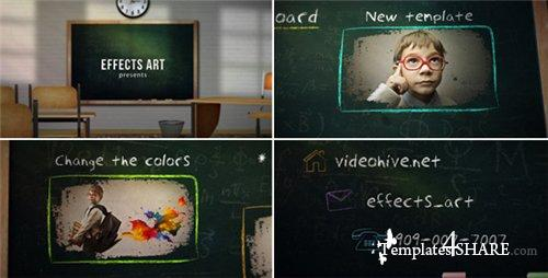 School Chalkboard - After Effects Project (Videohive)