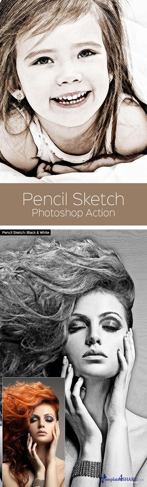 GraphicRiver Pencil Sketch - Photoshop Action