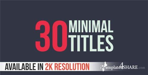 30 Minimal Titles - After Effects Project (Videohive)