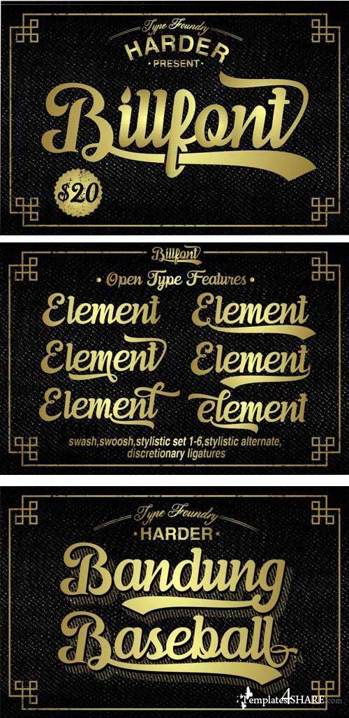 Billfont Typeface Font