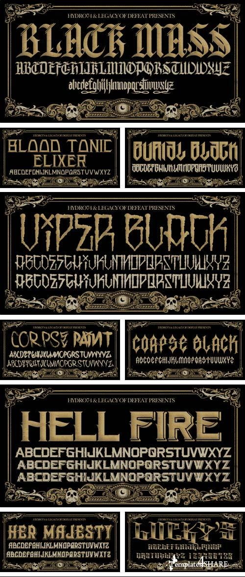 Hydro74 Mega Font BUNDLE