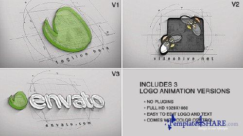 Architect Logo Reveal (3 versions) - After Effects Project (Videohive)