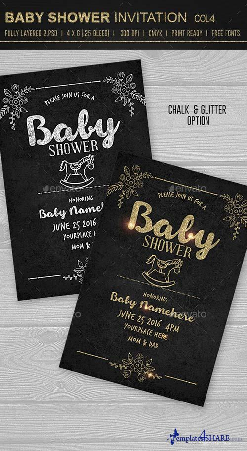 GraphicRiver Baby Shower Invitation 4