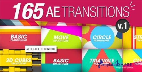 165 Transitions Pack v1 - After Effects Project (Videohive)