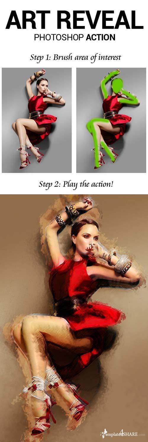 GraphicRiver Art Reveal Photoshop Action