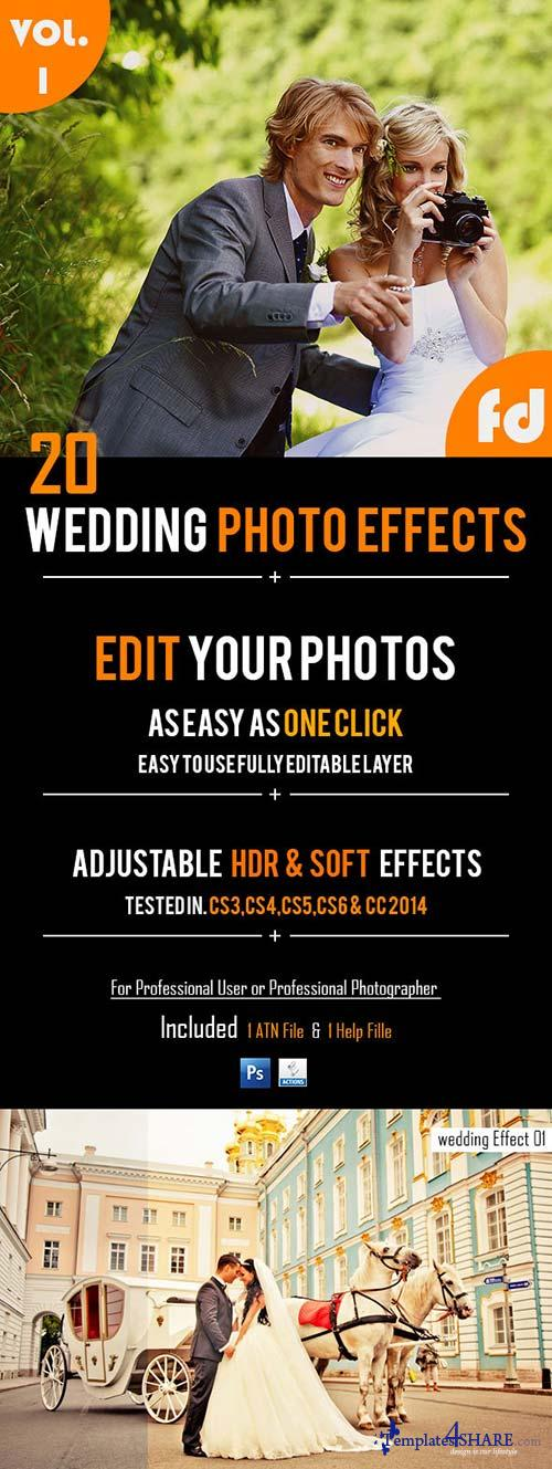 GraphicRiver 20 Wedding Photo Effects