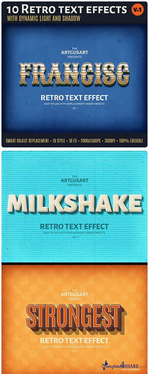 GraphicRiver 10 Retro Text Effect v.1
