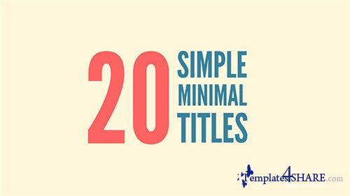20 Simple Minimal Titles - After Effects Project (Videohive)