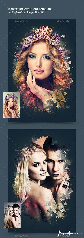 GraphicRiver Watercolor Art Photo Manipulation