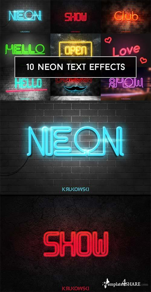 CreativeMarket Neon Text Effects