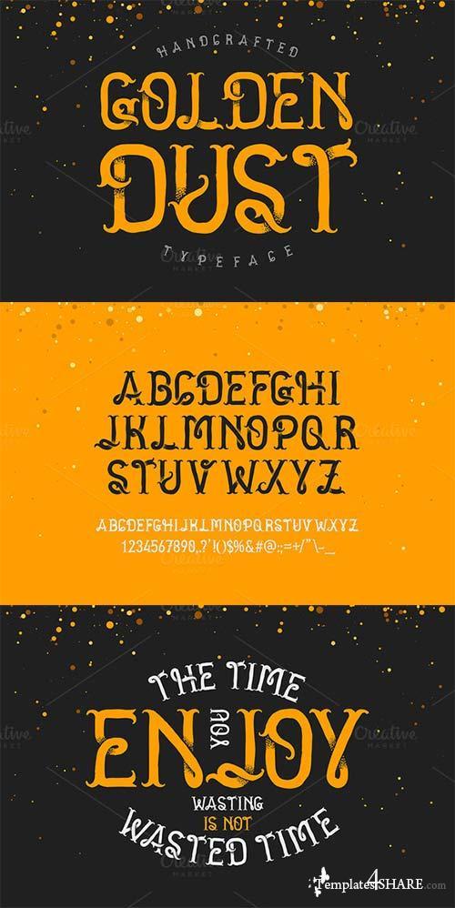 Golden Dust Typeface Font