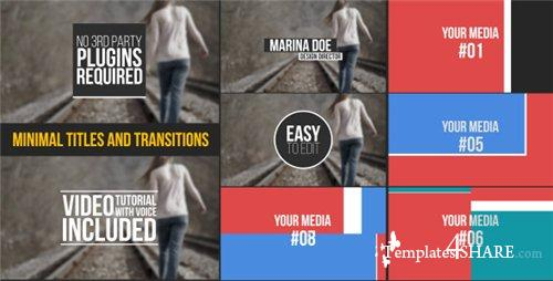 Minimal Titles And Transitions - After Effects Project (Videohive)[