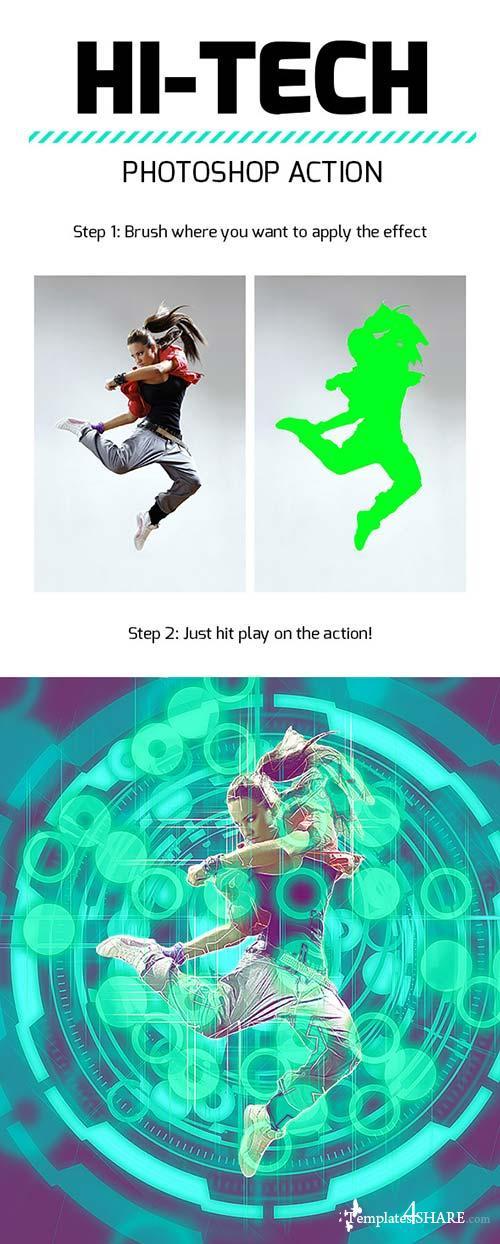 GraphicRiver Hi-Tech Photoshop Action