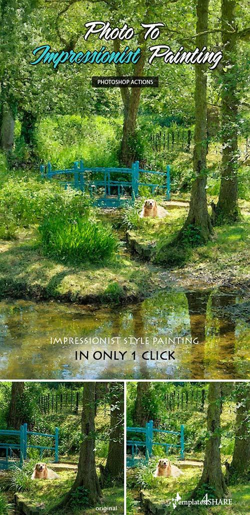 GraphicRiver Photo To Impressionist Painting