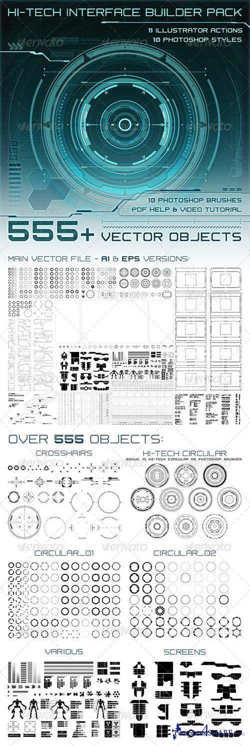 GraphicRiver Hi-Tech Interface Builder Pack