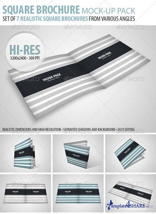 GraphicRiver Square Brochure Mock-Up Pack