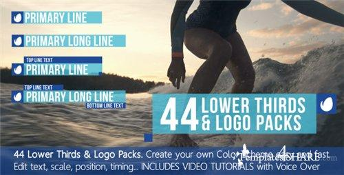 44 Lower Thirds Titles & Logo Packs - After Effects Project (Videohive)