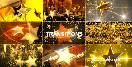 Gold Star Transitions Pack   After Effects Project (Videohive)