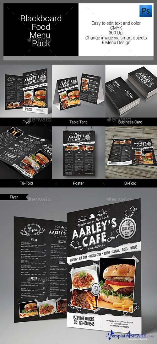 GraphicRiver Blackboard Food Menu Bundle