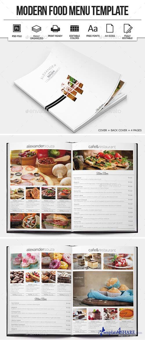 GraphicRiver Modern Food Menu Design