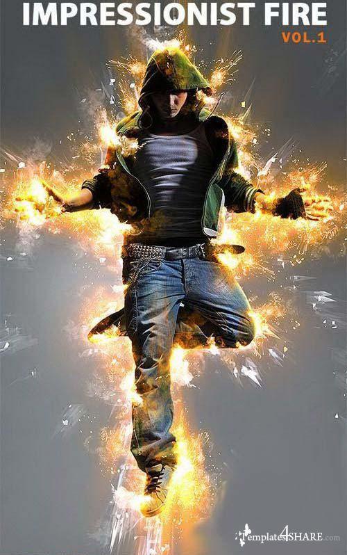 GraphicRiver Impressionist Fire - Photoshop Action