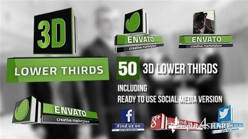 3D Lower Thirds (50 Items) - After Effects Project (Videohive)
