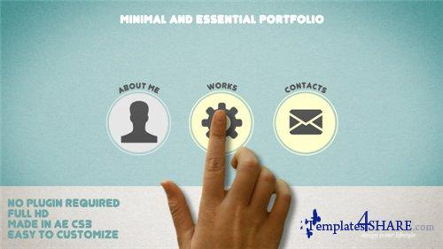 Minimal and Essential Portfolio - After Effects Project (Videohive)
