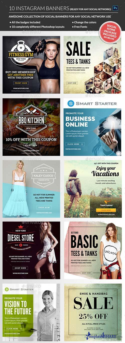 GraphicRiver Instagram Banners